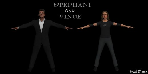 WWE Stephanie and Vince McMahon