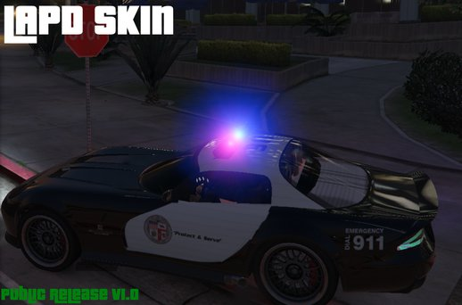 Police Banshee (Marked LAPD/General Police & Template)