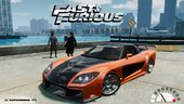 FAST AND FURIOUS Mazda RX 7 Veilside Fortune + Sounds