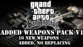 10 Weapons ADDED (Not Replaced) for SA! V1 (From GTA 5, Call of Duty and more!)
