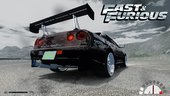 Fast And Furious Nissan Skyline R33 And R34 Pack + Sounds