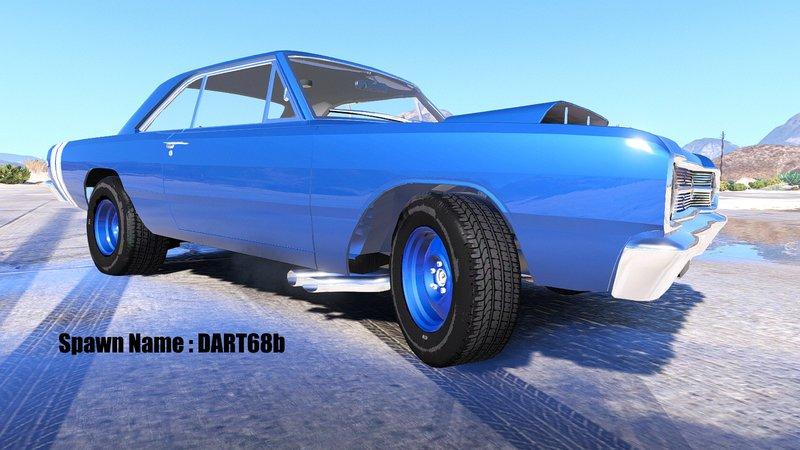 GTA 5 1968 Dodge Dart HEMI Super Stock Version 1 2 [ANIMATED / ADDON