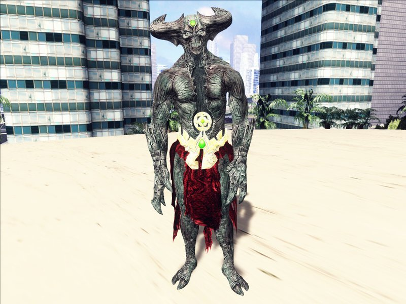 GTA San Andreas Shinnok Corrupted from Mortal Kombat X Mod