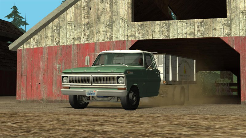 1970 Ford F100 >> GTA San Andreas Ford F-350 Farm Truck 1970 Mod - GTAinside.com