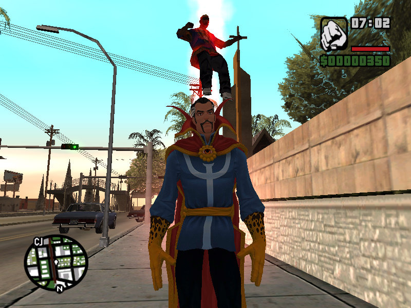 GTA San Andreas Marvel's Doctor Strange (with power) Mod