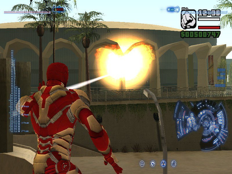 GTA San Andreas Iron-Man Mod With J A R V I S  and HUD and