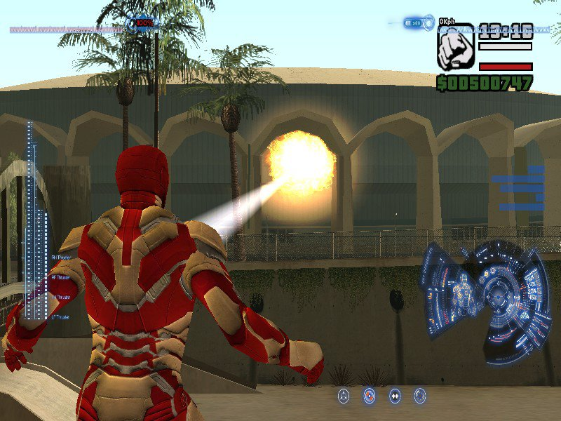 GTA San Andreas Iron-Man Mod With J A R V I S  and HUD and Suit Menu