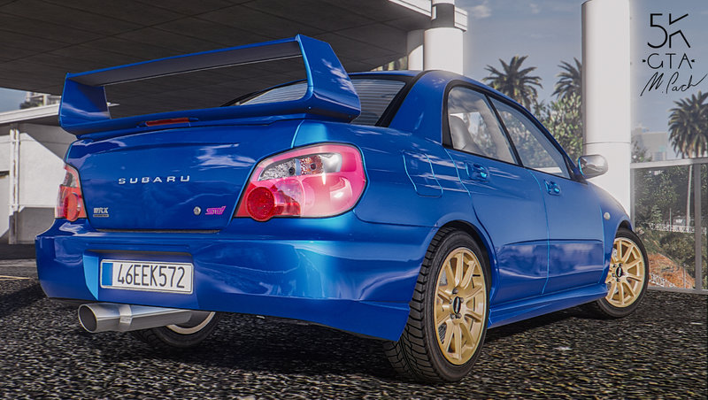 gta 5 subaru impreza wrx sti 2004 add on tuning mod. Black Bedroom Furniture Sets. Home Design Ideas