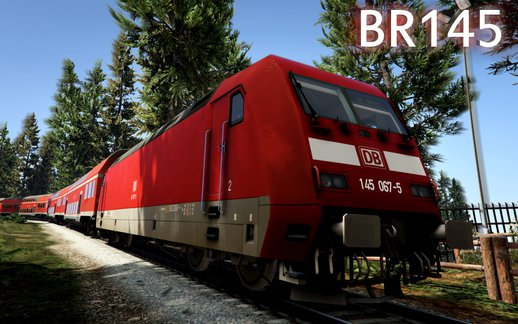 German Railcar (Bombadier Traxx DB BR 145) - Train Mod [Enterable] FINAL