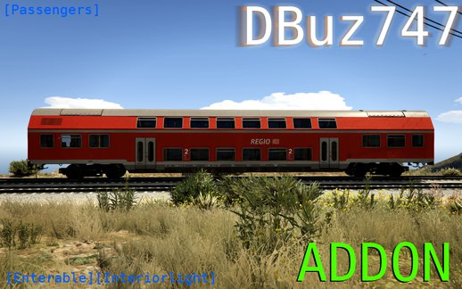 German Double Stack Wagon Passenger Train (DBuz747) [Add-On | Enterable | Interior Light] 1.0