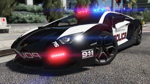 Lamborghini Aventador | Hot Pursuit Police [Add-On / Replace | Template]