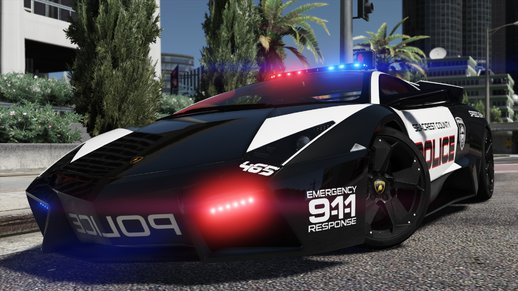Lamborghini Reventón | Hot Pursuit Police | AUTOVISTA [Add-On / Replace | Template]