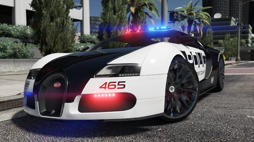 Bugatti Veyron | Hot Pursuit Police [Add-On / Replace | Template]