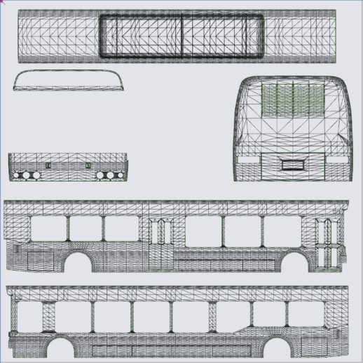 Airport Bus Template Pack