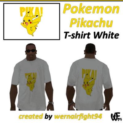 Pokemon Pikachu T-shirt White