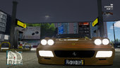 Gold Ferrari 512 TR evo TESTAROSSA PACK BBS Wheels + Sounds