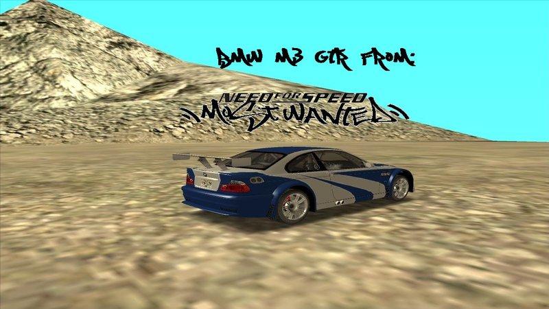 Gta San Andreas Bmw M3 Gtr From Nfs Mw Original Mw Version Mod