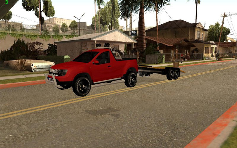 gta san andreas dacia duster pick up and trailer mod. Black Bedroom Furniture Sets. Home Design Ideas