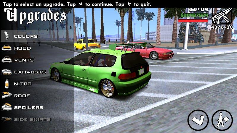 GTA San Andreas 1998 Honda Civic Hatchback For Android No Txd Mod