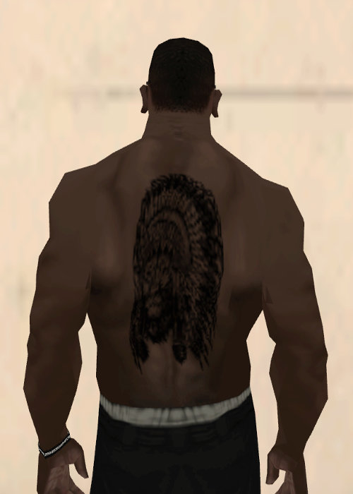 Gta San Andreas Lion Wearing An Indian Headdress Tattoo Black Mod