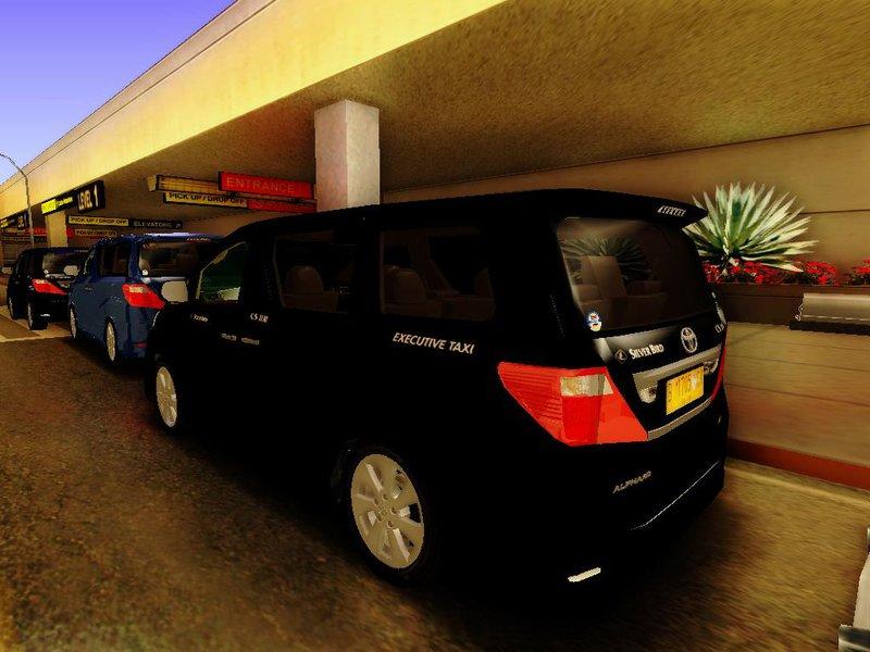 Gta San Andreas Toyota Alphard Taxi Silver Bird Mod Gtainside Com