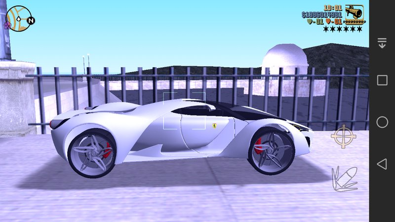 GTA 3 Ferrari F80 Concept For Mobile Mod - GTAinside.com