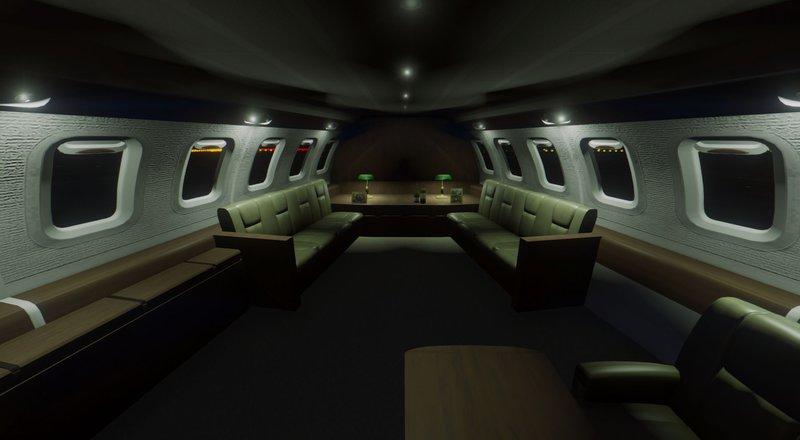 Gta 5 air force one boeing vc 25a enterable interior for Gta sa plane interior mod