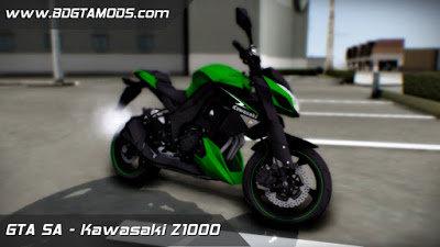 GTA San Andreas KAWASAKI Z1000 Mod