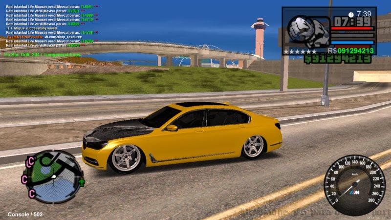 GTA San Andreas BMW 2016 730i Twin turbo Mod - GTAinside com