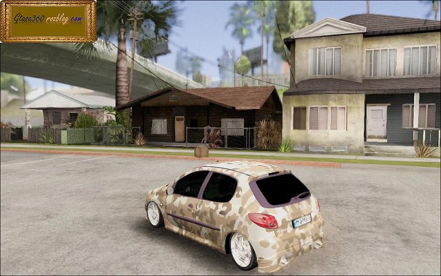 GTA San Andreas Peugeot 206 With Army Paint Job Mod