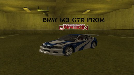 BMW M3 GTR From: NFS CARBON