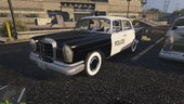 1960s West Germany/Persian/English Police Benz W111