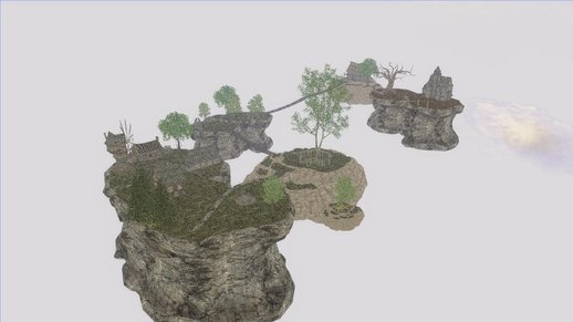 Skyrim Flying Island Map MOD
