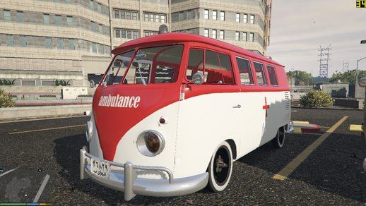 1960s Ambulance/Police Van (English-Persian) Volkswagen Transporter