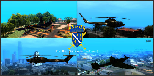 Armija BiH / Bosnian Army FULL Pack ( Armored Vehicles, Helicopters, Player Skin )