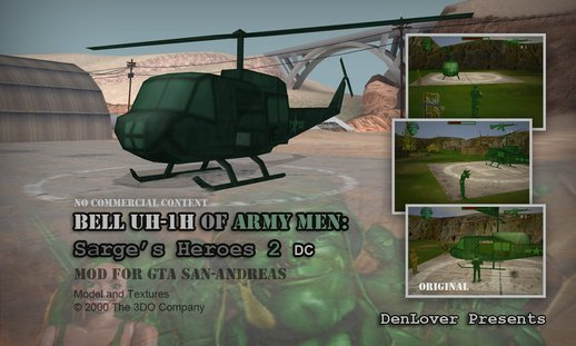 Bell UH-1H of Army Men: Sarge's Heroes 2