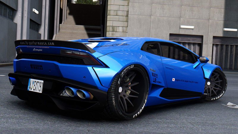 Lamborghini aventador sv roadster blue wallpaper