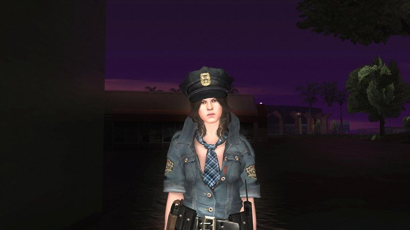 GTA San Andreas Resident Evil 6 Helena COP Outfit Mod