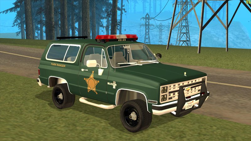 Gta San Andreas 1985 Chevy Blazer Park Ranger Mod Gtainside