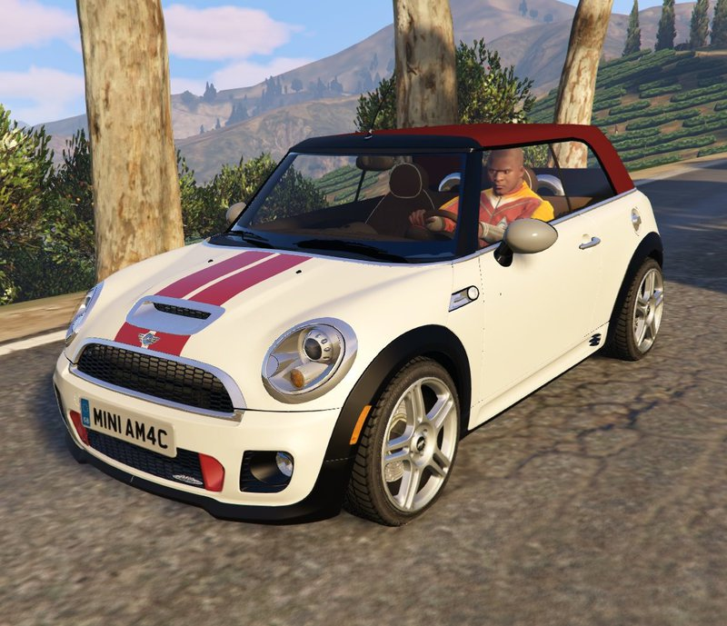 gta 5 mini jcw r57 cabrio add on tuning livery mod. Black Bedroom Furniture Sets. Home Design Ideas