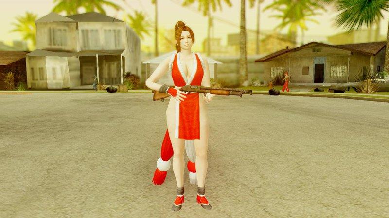 GTA SA  Skin Mai Shiranui Topless From Dead or Alive 5