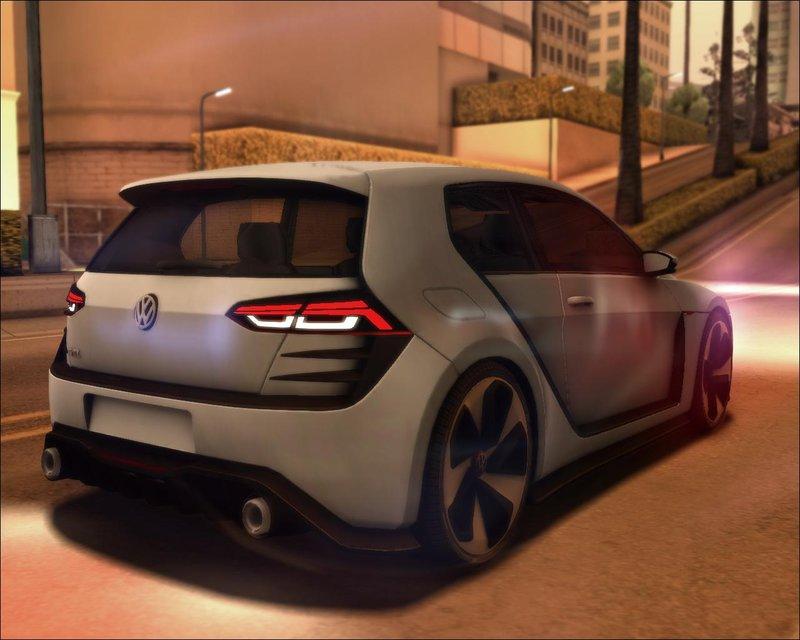 GTA San Andreas Volkswagen Golf Design Vision GTI Mod - GTAinside.com