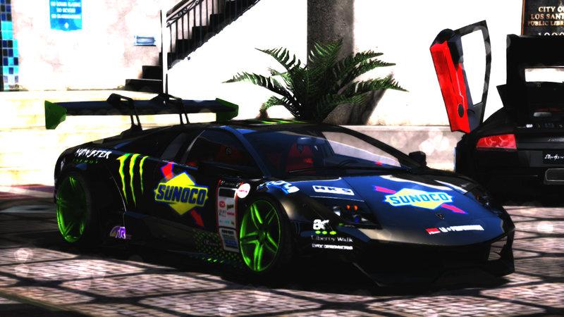 Gta 5 Lamborghini Murcielago Sv Liberty Walk Mod Gtainside Com