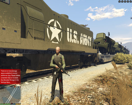 US Army Military Train + Blue Crane Truck