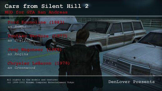 Cars from Silent Hill 2