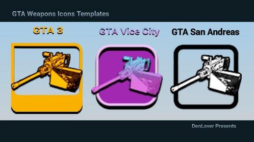 GTA Weapons Icons Templates