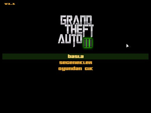GTA 3 Cool Black Menu