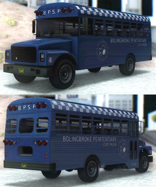 GTA V Vapid Police Prison Bus