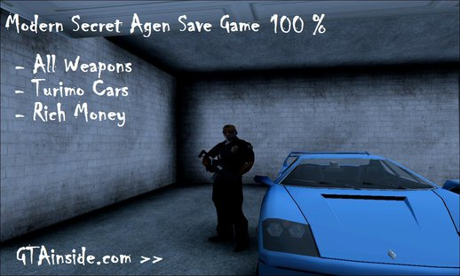 Modern Secret Agent Save Game 100%