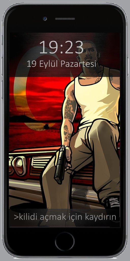GTA San Andreas Turk - Turkish iPhone 6 Cellphone